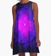 Dripping Into Future Energy ~ Fractal Art A-Line Dress