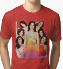 Jaime Murray collage Tri-blend T-Shirt