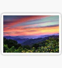 Blue Ridge Mountain Color Sticker