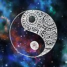 Galaxy Yin Yang by julieerindesign