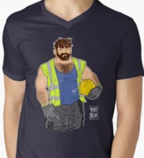 ADAM LIKES WORK Men's V-Neck T-Shirt