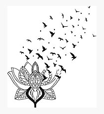 Lotus Bird Photographic Print