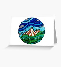 Mountain Wave Greeting Card