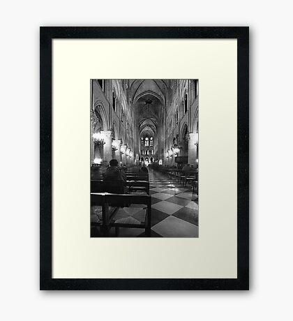 inside notre dame Framed Print