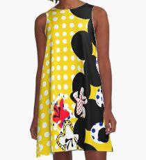 royvibes pop art braille pattern A-Line Dress