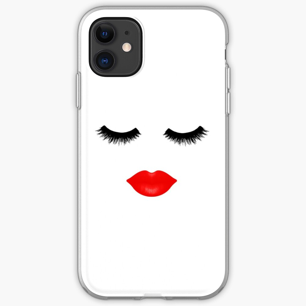 Lips and Lashes iPhone Soft Case