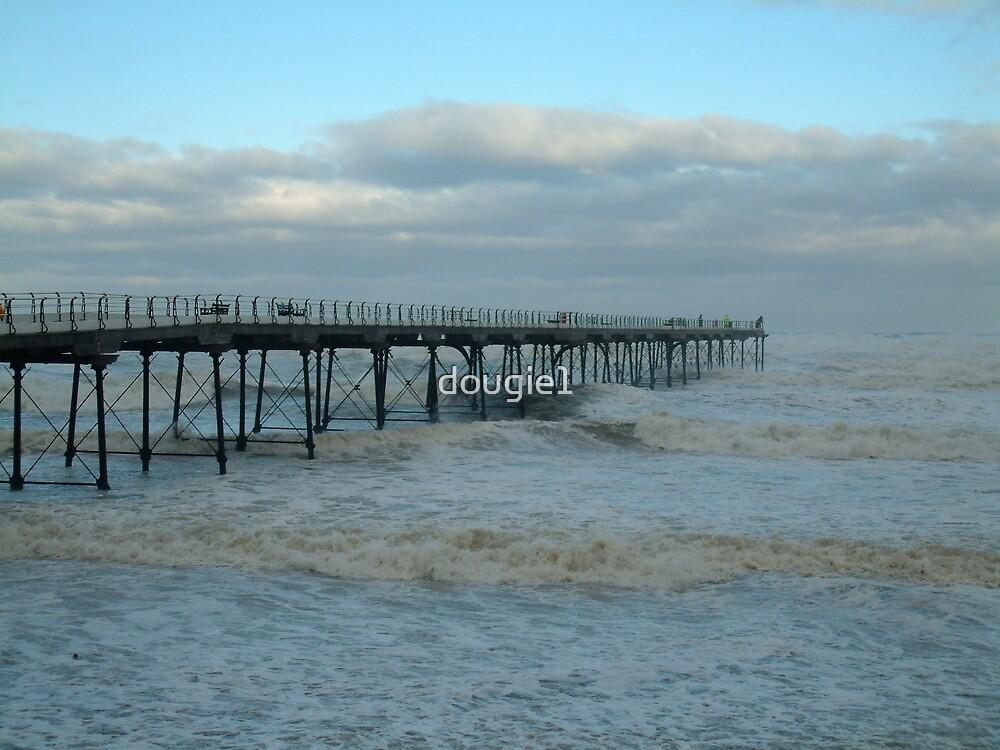 Stormy Saltburn Pier by dougie1