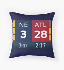Patriots 28-3 Super Bowl Scoreboard Throw Pillow
