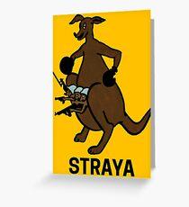Straya Kangaroo Greeting Card