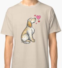 English Setter love Classic T-Shirt