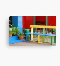 Colourful Bench Canvas Print