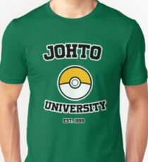 Johto University EST.1999 - Gold T-Shirt