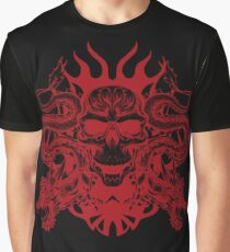 Red Skull With Dragons - Art Board/Sticker/Graphic T-Shirt/A Line Dress/Drawstring Bag/And Tons More! Graphic T-Shirt
