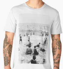 Long Beach California Vintage Photo, 1920s  Men's Premium T-Shirt