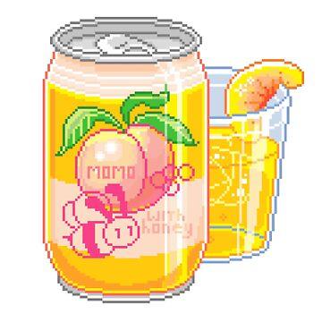 Peach with Honey Soda by erinaugusta