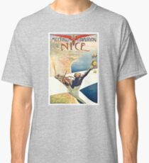 1910 Meeting d'Aviation Nice France Advertising Poster Classic T-Shirt