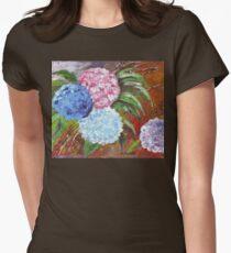 Hydrangeas in Acrylic Women's Fitted T-Shirt