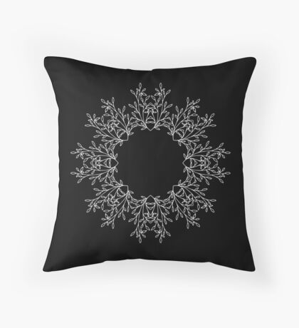 Delicate Vines Throw Pillow
