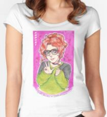 RadNat Peace <3  Women's Fitted Scoop T-Shirt