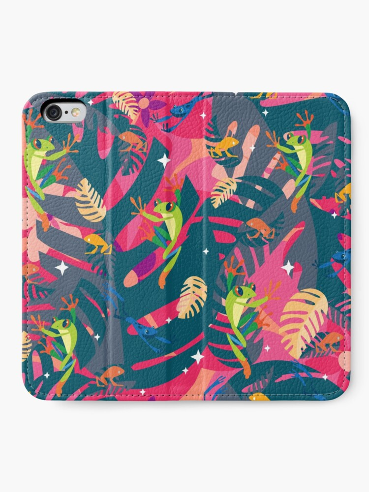 Alternate view of Twilight Frogs iPhone Wallet