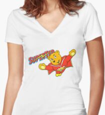 SuperTed! Women's Fitted V-Neck T-Shirt