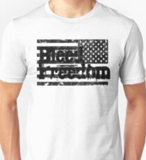 Bleed Freedom Black American Flag T-Shirt
