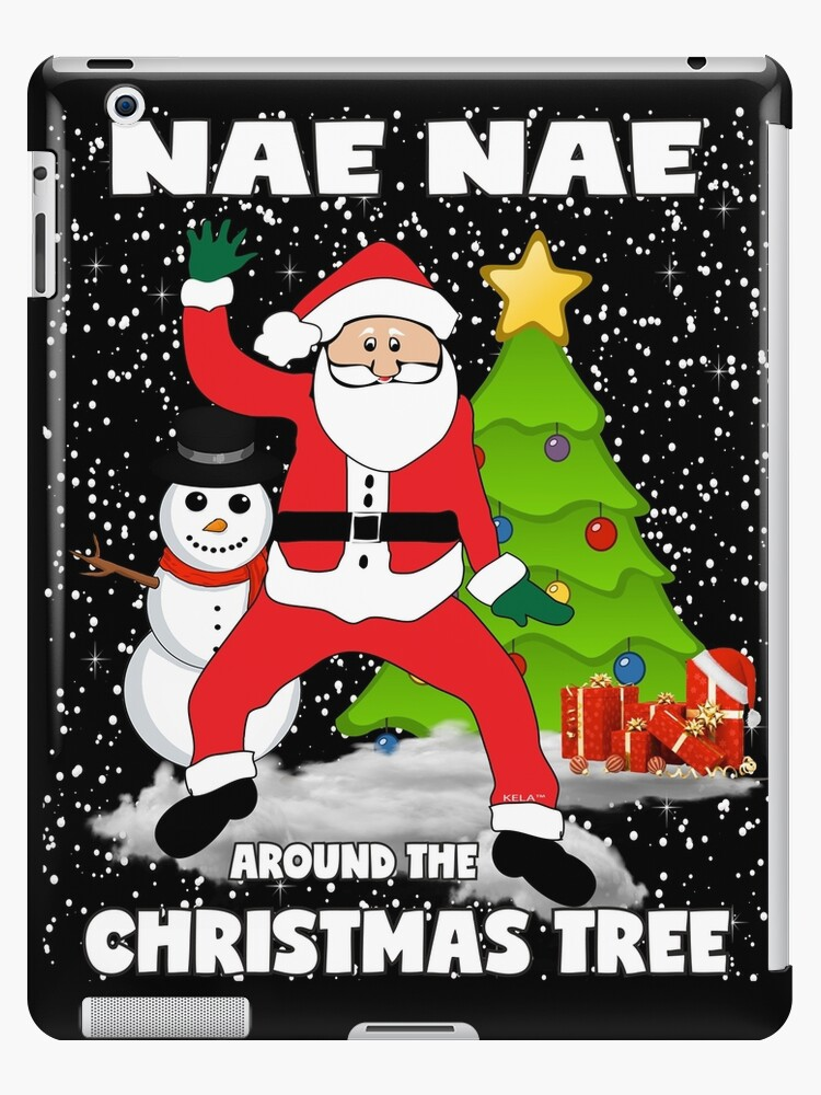 Christmas Dancing Santa.Nae Nae Around The Christmas Tree Hip Hop Dancing Santa Claus Ipad Case Skin By Kelaessentials