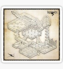 Isometric Dungeon Map Sticker