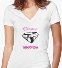 Glamorous  Women's Fitted V-Neck T-Shirt