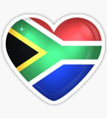 South Africa Large Heart Flag Sticker