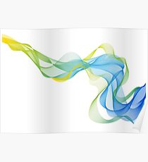 abstract colorful waves Poster