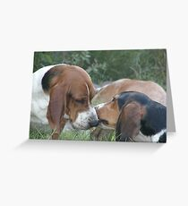 puppy play Greeting Card