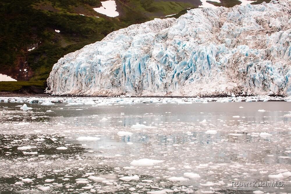 Retreating Glacier - Western End of Aialik  by Robert Kelch, M.D.