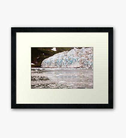 Retreating Glacier - Western End of Aialik  Framed Print