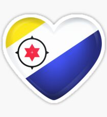 Bonaire Large Heart Flag Sticker
