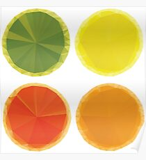 Geometric Fruit Slices Poster