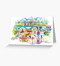 Cook&Sketch on the Canal du Midi Greeting Card