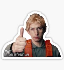 Matt the Radar Technician Sticker