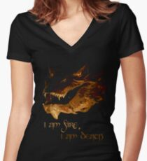 I am fire, I am Death Women's Fitted V-Neck T-Shirt