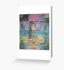 Livity in the garden of sephiroth Greeting Card