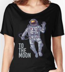 Litecoin Astronaut to the Moon -light text Women's Relaxed Fit T-Shirt