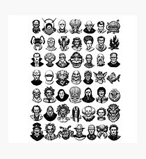 Monsters and  villains Photographic Print