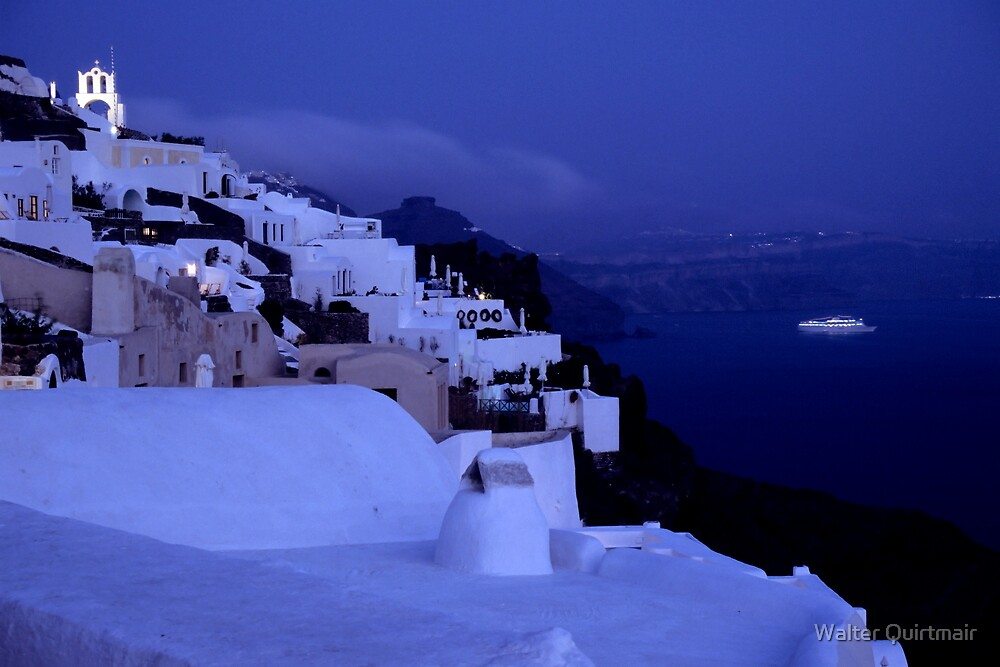 Santorini Nights by Walter Quirtmair