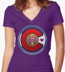 Psychedelic Bassnectar Fractal Colorado Love CO Flag Fractal Women's Fitted V-Neck T-Shirt