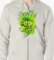 Beautiful Alpha Bad Boy/Girl Green Zipped Hoodie