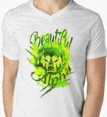 Beautiful Alpha Bad Boy/Girl Green V-Neck T-Shirt