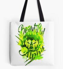 Beautiful Alpha Bad Boy/Girl Green Tote Bag