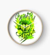 Beautiful Alpha Bad Boy/Girl Green Clock
