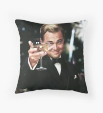 Great Gatsby Poster Throw Pillow