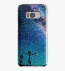 Rick and Morty Galaxy Blue Samsung Galaxy Case/Skin
